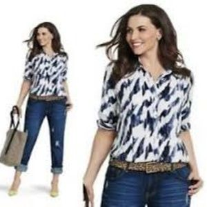 Cabi New Label Moody Blues L/S Button Down Shirt S